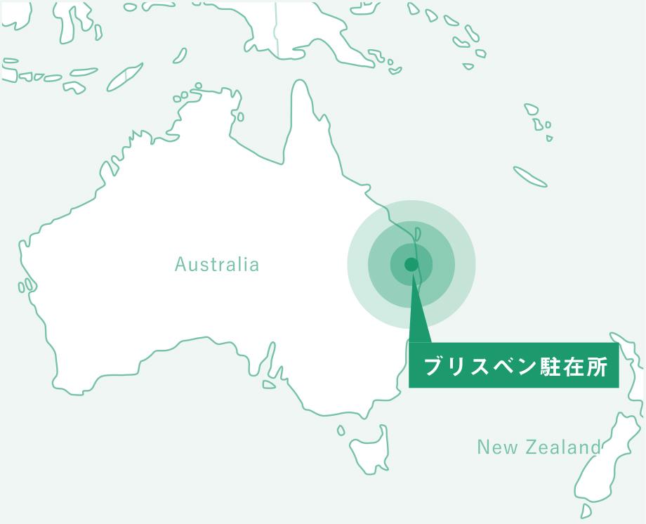 オーストラリア メルボルン駐在所の地図